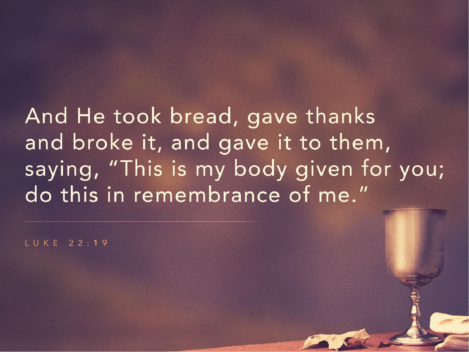Communion – The Lord's Supper